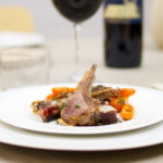 Thyme lamb chops with braised carrots