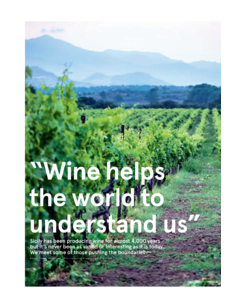 Wine helps the world to understand us