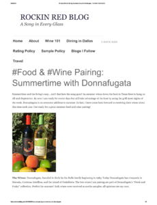 #Food & #Wine Pairing: Summertime with Donnafugata
