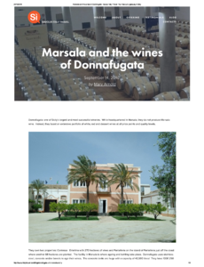 Marsala and the wines of Donnafugata