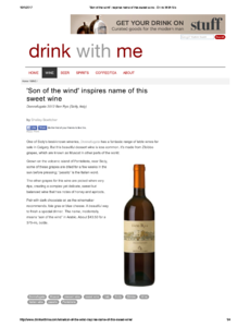 Son of the wine inspires the name of this sweet wine