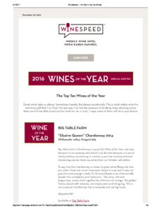 Top 10 Wines of the year 2016