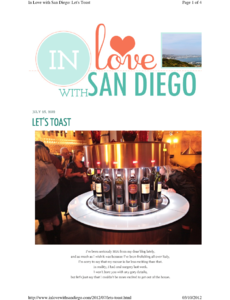 In Love with San Diego: Let's Toast