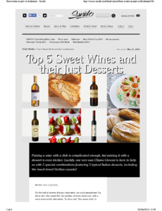 Top 5 sweet wines and their just desserts