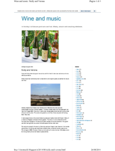 Wine and music: Sicily and Verona