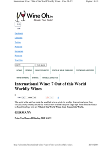 International Wine: 7 out of this world worldly wines