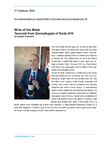 Wine of the Week Tancredi from Donnafugata of Sicily