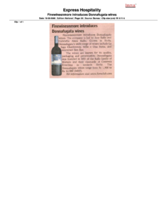 Express Hospitality. Finewinesnmore introduces Donnafugata wines