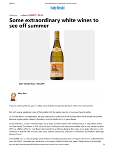 Some extraordinary white wines to see off summer