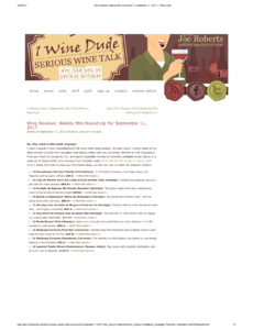 Wine Reviews: Weekly Mini Round-Up - Ben Ryé 2014